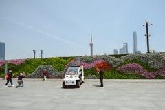 花墙壁在障壁,上海,中国的 图库摄影