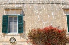 花墙壁视窗 免版税库存图片