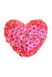 花大花束以心脏的形式 库存照片