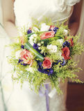 花婚礼花束  库存图片