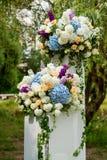 花婚礼装饰 库存照片
