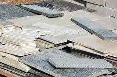 花岗岩和陶瓷砖 免版税库存图片