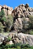 花岗岩小山谷 库存照片
