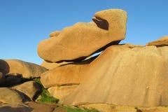 花岗岩岩层在Ploumanac 库存图片