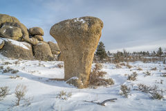 花岗岩岩层在Vedauwoo度假区 免版税库存照片