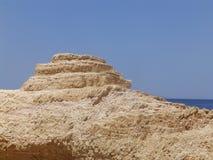 花岗岩岩石在希腊海岛 免版税库存照片