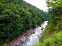 花岗岩峡谷,阿迪格共和国 库存照片