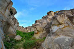 花岗岩峡谷 库存图片