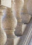 花岗岩扶手栏杆 免版税库存照片