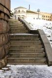 花岗岩楼梯 图库摄影