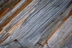 花岗岩河床(Verzasca)的细节 免版税库存图片