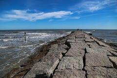花岗岩海边码头 库存照片