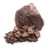 花岗岩石头,岩石背景 免版税图库摄影