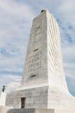花岗岩纪念碑纪念的莱特兄弟在北卡罗来纳 库存图片