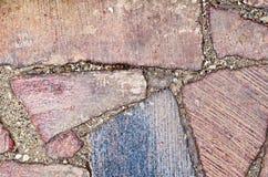 花岗岩路面红色 库存照片