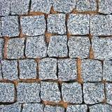 花岗岩鹅卵石路面纹理背景 免版税库存图片