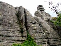 花岗岩inlier叫的Pielgrzymy在波兰 库存图片