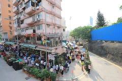 花市场在九龙,旺角HK 免版税库存照片