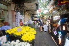 花市场在泰国 免版税库存照片