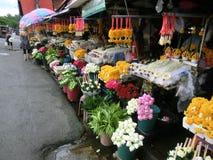 花市场在清迈,泰国 免版税库存照片