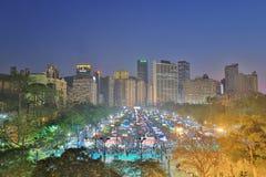 花市场在维多利亚公园,香港 库存照片