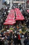 花市场在萨格勒布 免版税库存照片