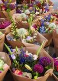花店,看见在阿姆斯特丹,荷兰 库存照片