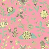 花无缝的纹理 不尽的花卉模式 能为墙纸使用 免版税库存图片