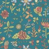 花无缝的纹理 不尽的花卉模式 能为墙纸使用 免版税库存照片