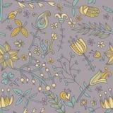 花无缝的纹理 不尽的花卉模式 能为墙纸使用 库存图片