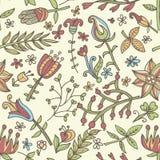 花无缝的纹理 不尽的花卉模式 能为墙纸使用 库存照片