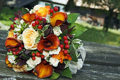 花束五颜六色的婚礼 库存照片