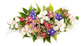 花束五颜六色的花 库存照片
