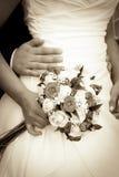 花束减速火箭的婚礼 免版税图库摄影
