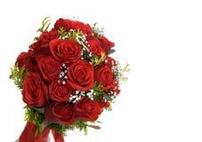 花束大红色玫瑰 免版税库存照片