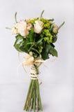 花束奶油色玫瑰 库存图片