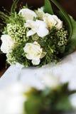 花束婚礼白色 库存照片