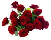 花束庆祝日期开花红色玫瑰一些 库存照片