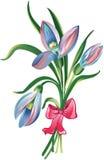 花束开花弹簧 向量例证