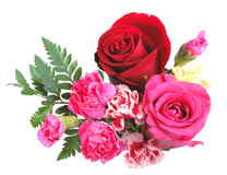 花束开花橙色桃红色红色 库存照片