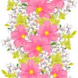 花束弓形象花纹花样无缝小 库存图片