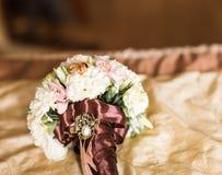 花束接近的婚礼 库存照片