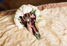 花束接近的婚礼 免版税库存图片