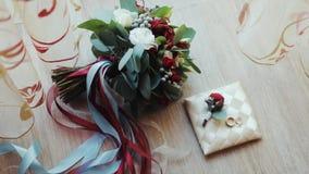 花束敲响婚礼 影视素材