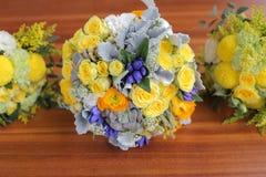 花束新娘五颜六色 库存图片