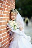 花束新娘俄国婚礼 免版税图库摄影