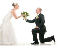 花束新娘夫妇藏品婚礼 库存图片