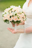 花束新娘新娘新郎现有量 免版税库存图片