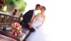 花束新娘新娘新郎 免版税库存图片