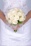 花束新娘日婚礼 免版税库存图片